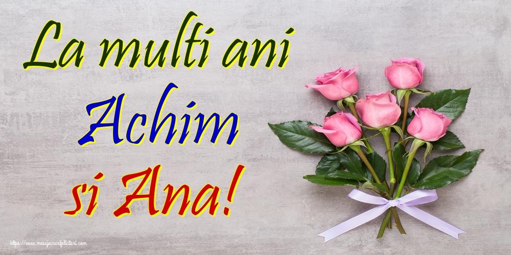 Felicitari de Sfintii Ioachim si Ana - La multi ani Achim si Ana!