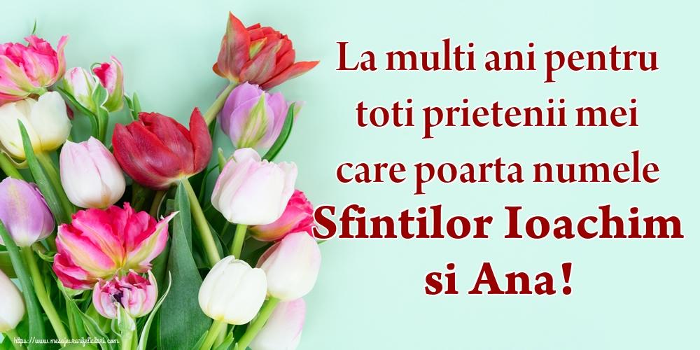 Felicitari de Sfintii Ioachim si Ana - La multi ani pentru toti prietenii mei care poarta numele Sfintilor Ioachim si Ana!