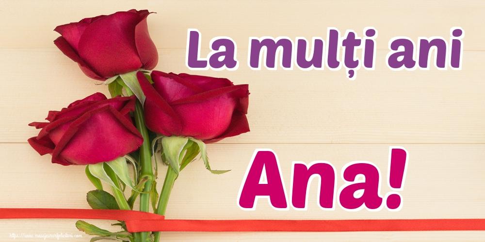 Felicitari de Sfintii Ioachim si Ana - La mulți ani Ana!