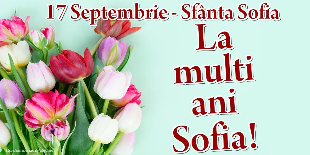 Felicitari de Sfânta Sofia - 17 Septembrie - Sfânta Sofia La multi ani Sofia!
