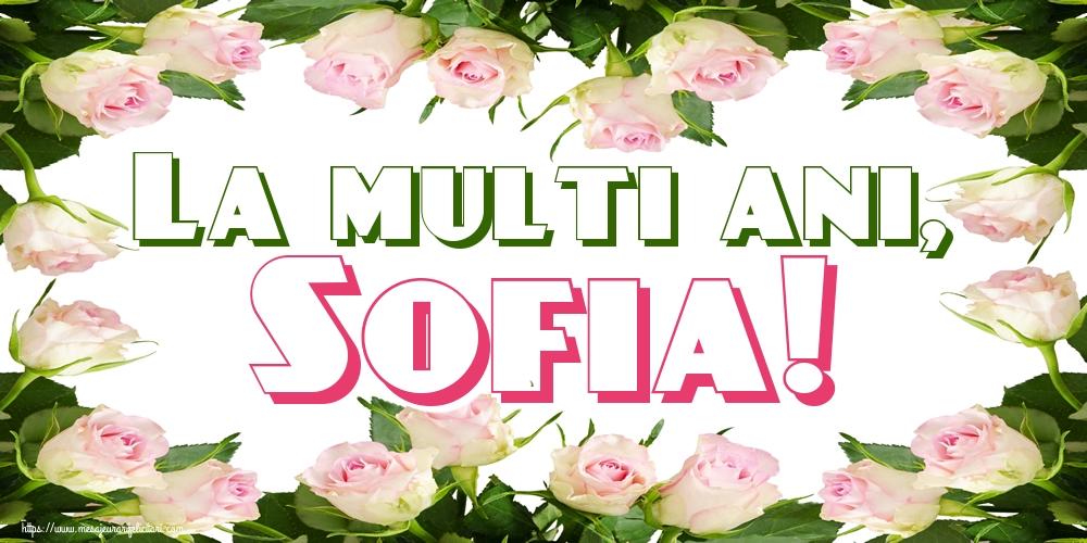 Sfânta Sofia La multi ani, Sofia!