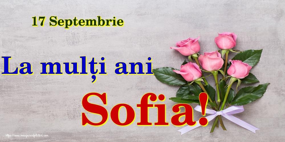 Felicitari de Sfânta Sofia - 17 Septembrie La mulți ani Sofia!