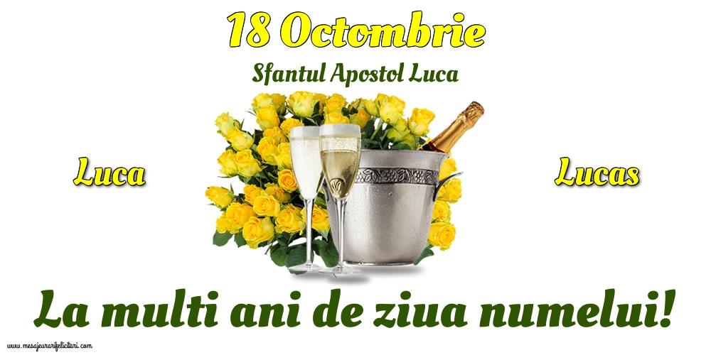 Felicitari de Sfântul Luca - 18 Octombrie - Sfantul Apostol Luca