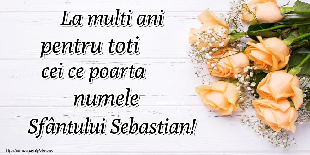 Felicitari de Sfântul Sebastian - La multi ani pentru toti cei ce poarta numele Sfântului Sebastian!