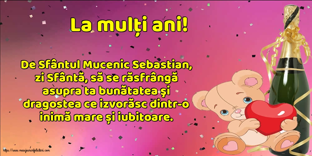 Felicitari de Sfântul Sebastian - La mulți ani!