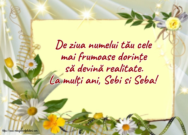 Felicitari de Sfântul Sebastian - La mulți ani, Sebi si Seba!