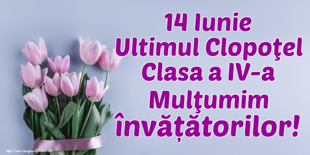 Cele mai apreciate felicitari de Ultimul clopoţel clasa a IV-a - 14 Iunie Ultimul Clopoţel Clasa a IV-a Mulţumim învățătorilor!