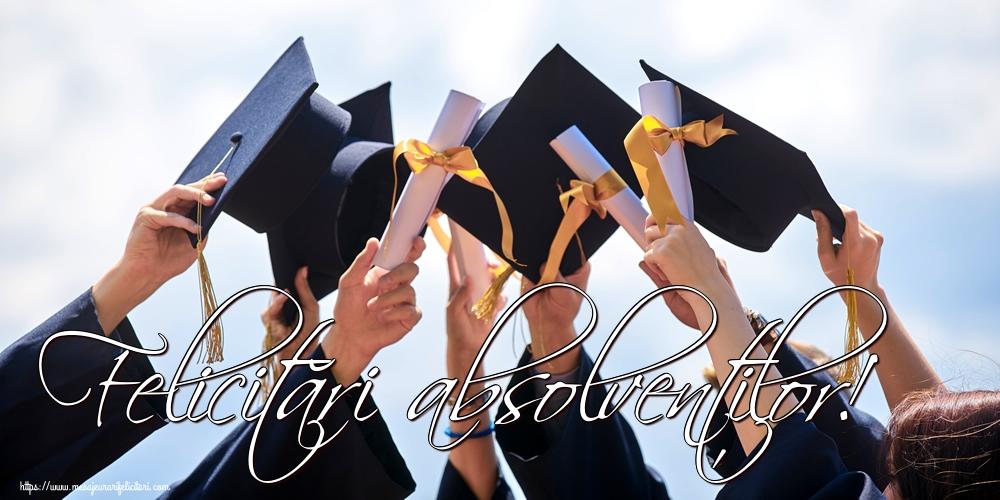 Felicitari de Ultimul clopoţel clasa a VIII-a - Felicitări absolvenților!