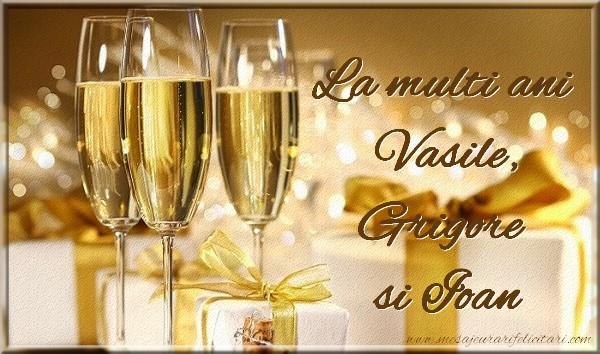 Cele mai apreciate felicitari de Sfintii Vasile, Grigore si Ioan - La multi ani  Vasile, Grigore si Ioan