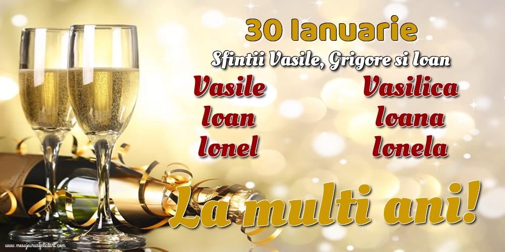 Cele mai apreciate felicitari de Sfintii Vasile, Grigore si Ioan - 30 Ianuarie - Sfintii Vasile, Grigore si Ioan
