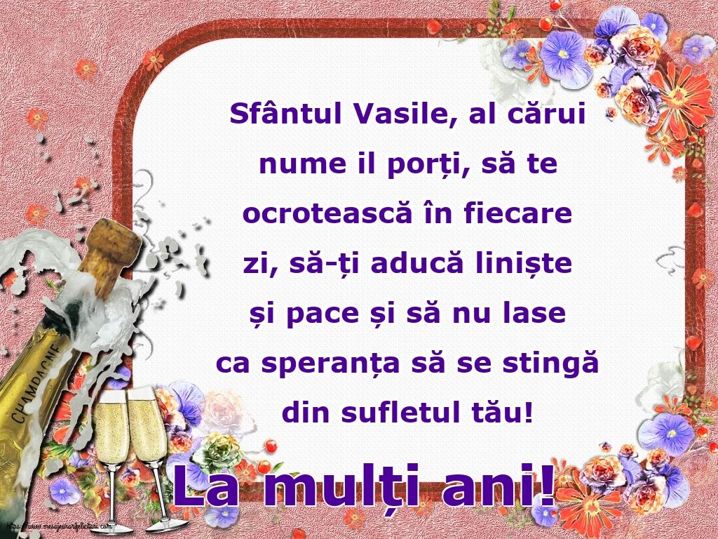 Felicitari de Sfintii Vasile, Grigore si Ioan - La mulți ani! - La mulți ani de Sfântul Vasile!