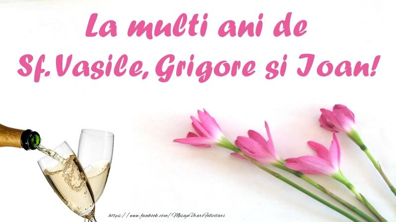 Felicitari de Sfintii Vasile, Grigore si Ioan - La multi ani de Sf. Vasile, Grigore si Ioan! - mesajeurarifelicitari.com