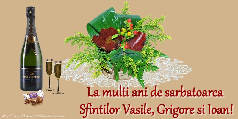 La multi ani de sarbatoarea Sfintilor Vasile, Grigore si Ioan!