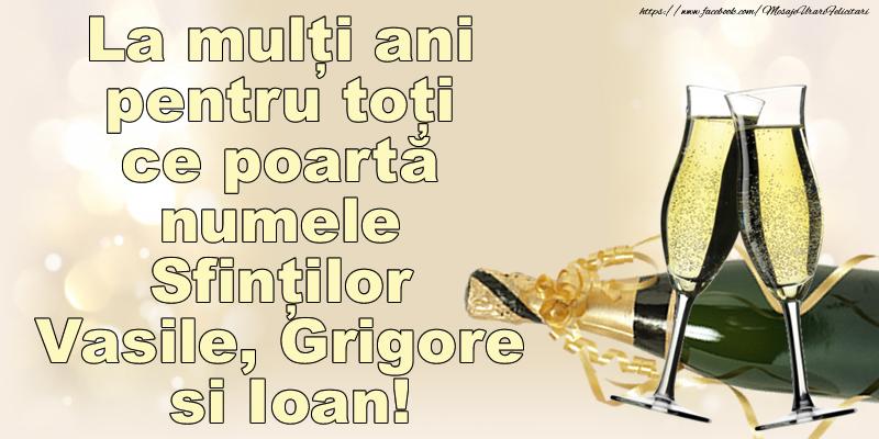 La mulți ani pentru toți ce poartă numele Sfinților Vasile, Grigore si Ioan!