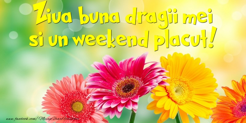 Felicitari de Weekend - Ziua buna dragii mei si un weekend placut