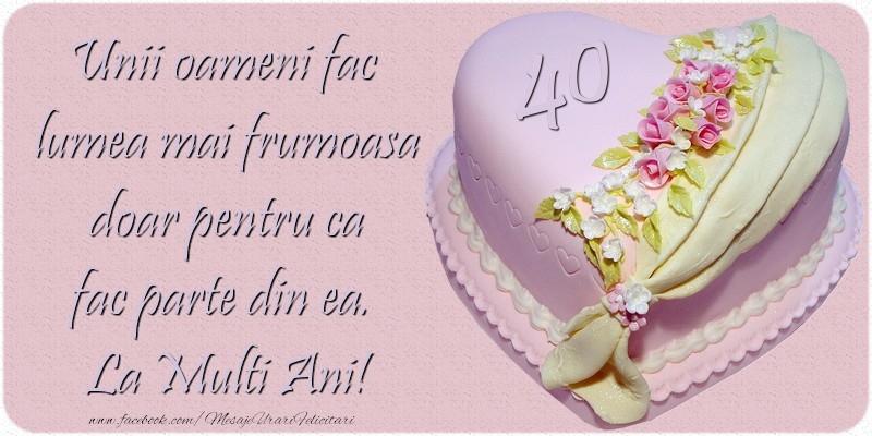 Cele mai apreciate felicitari de zi de nastere cu varsta - 40 de ani - La multi ani!