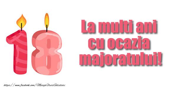 Felicitari de zi de nastere - La multi ani  cu ocazia  majoratului! 18 ani - mesajeurarifelicitari.com