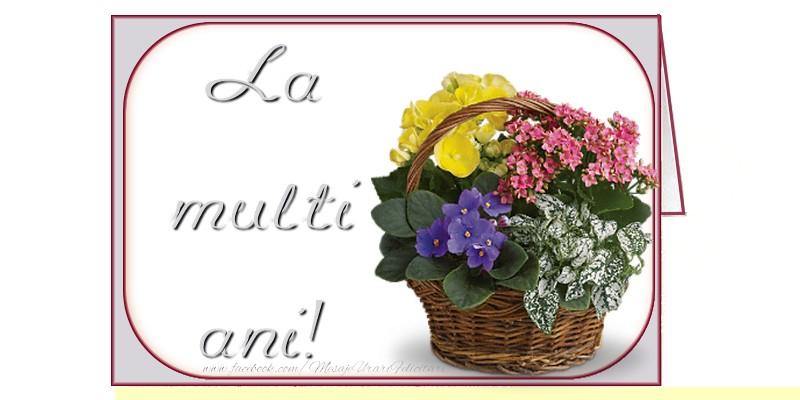 Felicitari de zi de nastere cu buchete de flori - La multi ani