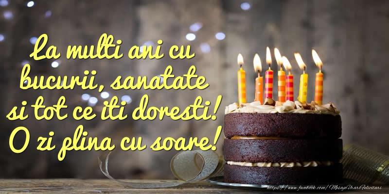 Cele mai apreciate felicitari de zi de nastere - La multi ani