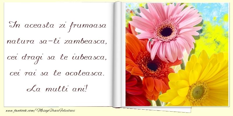 Felicitari de zi de nastere cu buchete de flori - La multi ani!