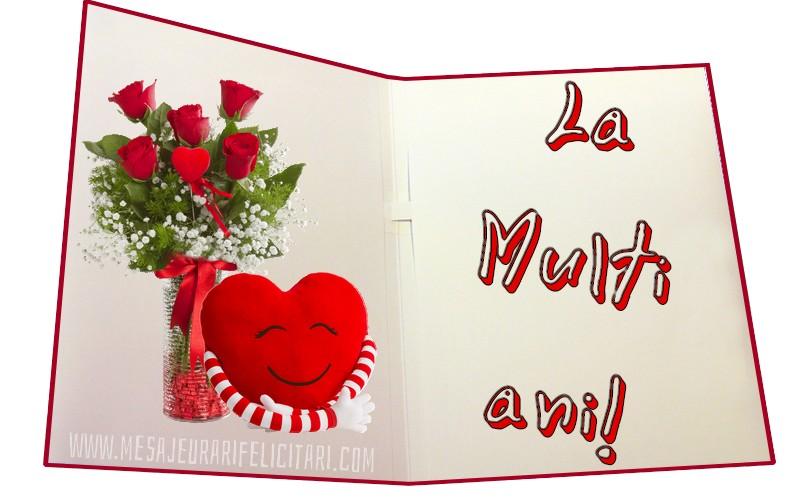 Felicitari de zi de nastere cu trandafiri - La multi ani