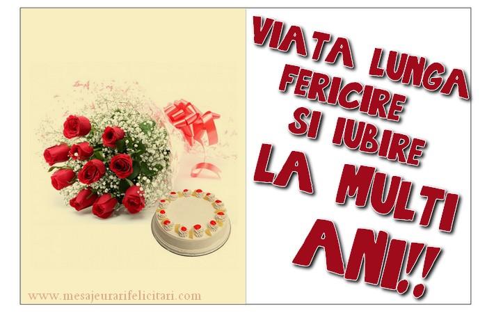 Felicitari de zi de nastere cu flori - LA MULȚI ANI!