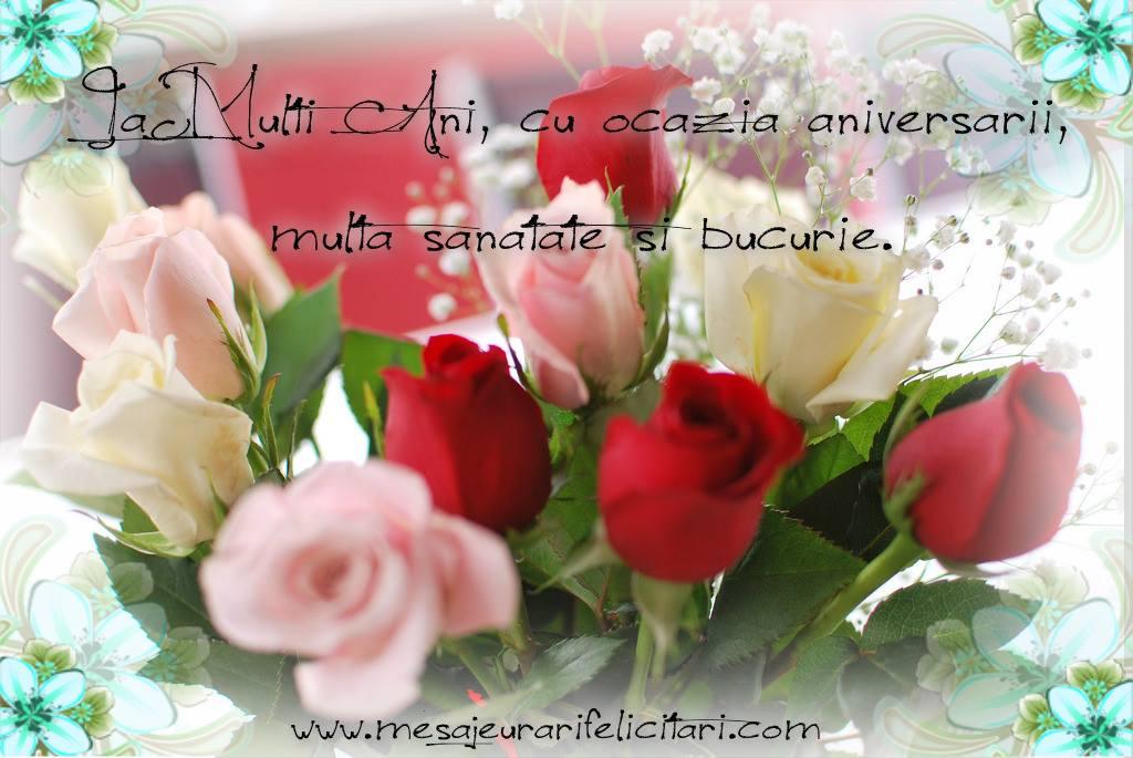 Felicitari de zi de nastere - La multi ani, cu ocazia aniversarii, multa sanatate si bucurie