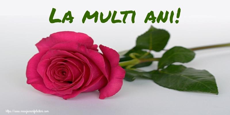 Felicitari de zi de nastere cu trandafiri - La multi ani!