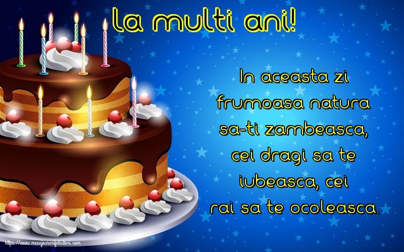 Felicitari de zi de nastere - La multi ani!