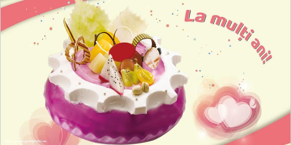Felicitari de zi de nastere cu tort - La mulți ani!