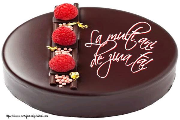 Felicitari de zi de nastere cu tort - La multi ani de ziua ta!