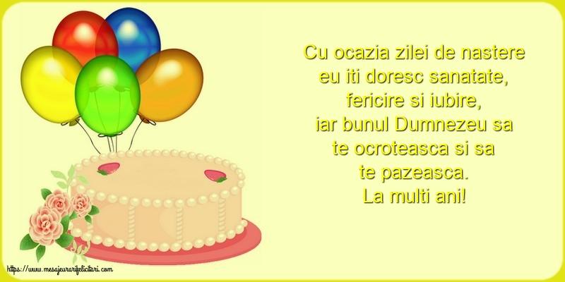 Felicitari de zi de nastere cu tort - La multi ani!