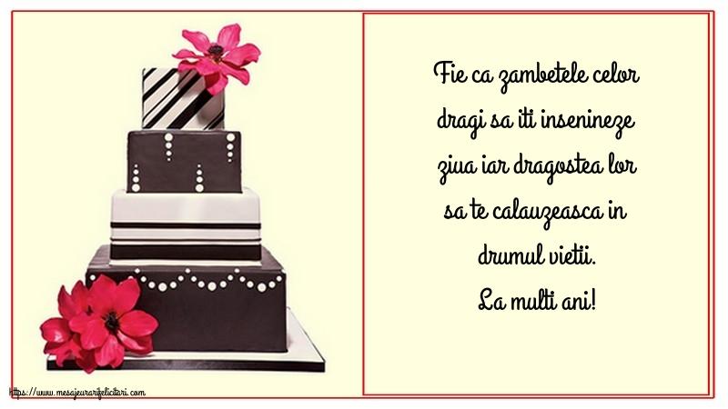 Felicitari de zi de nastere cu mesaje - La multi ani!