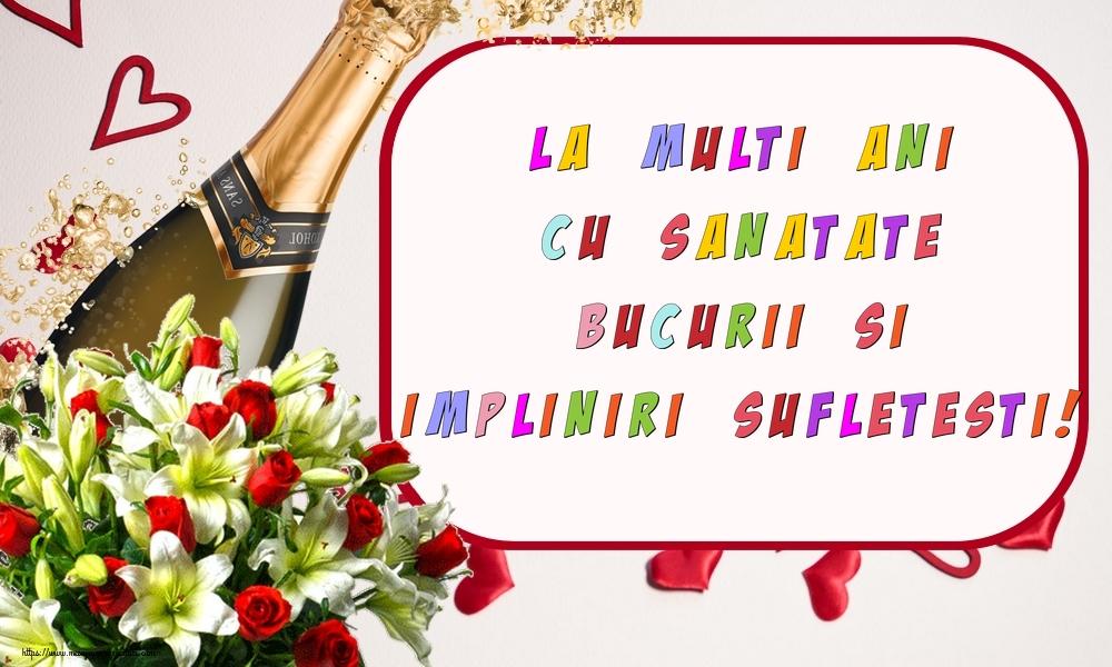 Felicitari de zi de nastere - La multi ani cu sanatate, bucurii si impliniri sufletesti! - mesajeurarifelicitari.com