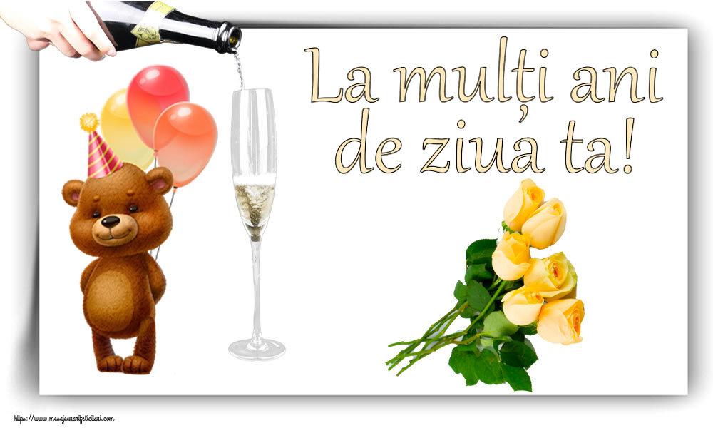 Felicitari de zi de nastere cu flori - La mulți ani de ziua ta!