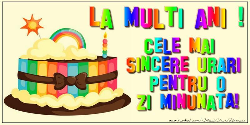Felicitari de zi de nastere - La multi ani! Cele mai sincere urari - mesajeurarifelicitari.com