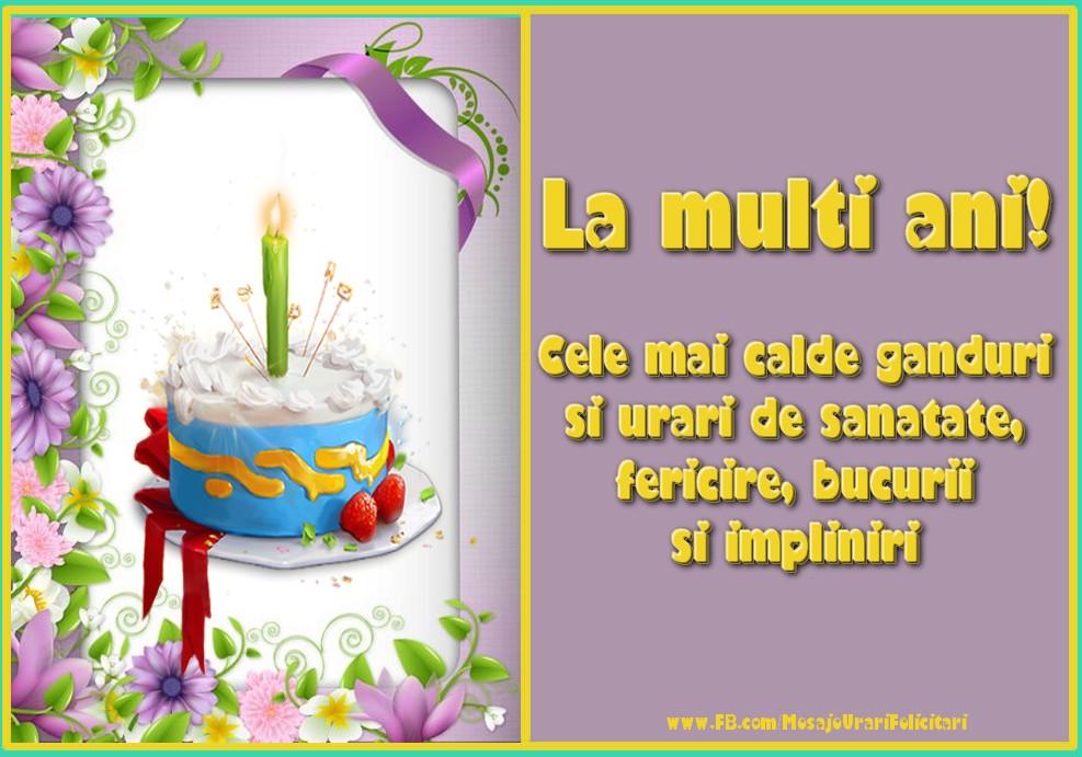 Cele mai apreciate felicitari de zi de nastere - La multi ani!