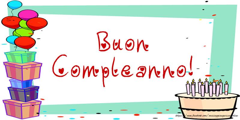 Felicitari de zi de nastere in Italiana - Buon Compleanno!