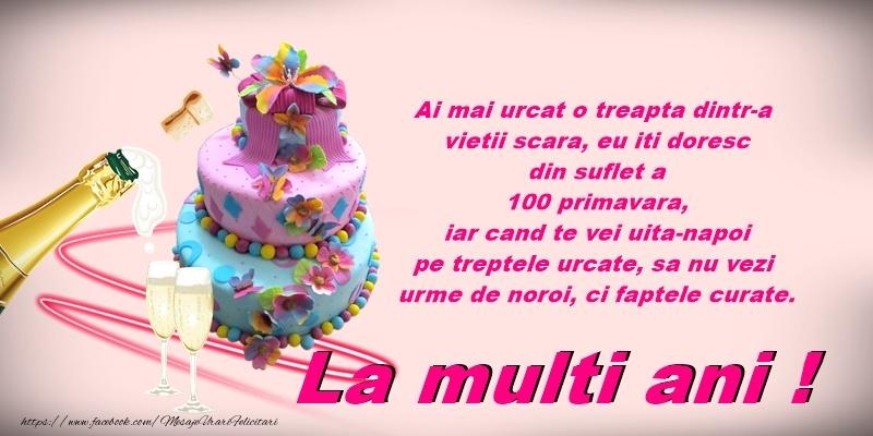 Felicitari de zi de nastere cu tort si sampanie - La multi ani!