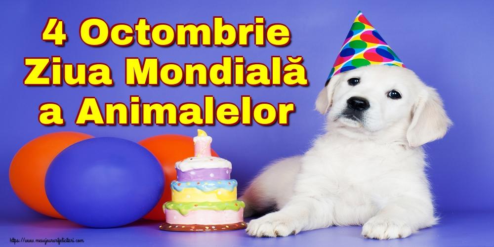 Felicitari de Ziua Animalelor - 4 Octombrie Ziua Mondială a Animalelor