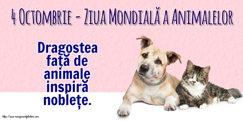 Cele mai apreciate felicitari de Ziua Animalelor - 4 Octombrie - Ziua Mondială a Animalelor