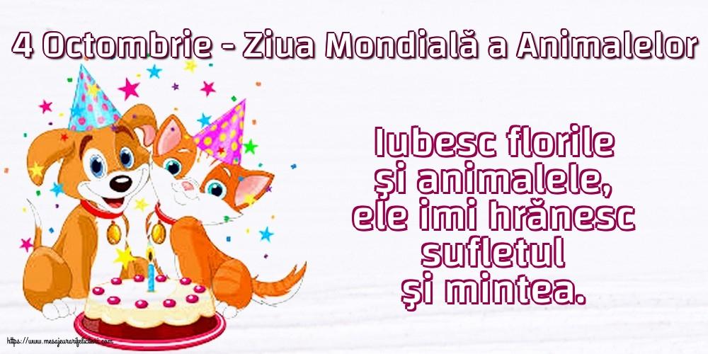 Felicitari de Ziua Animalelor - 4 Octombrie - Ziua Mondială a Animalelor
