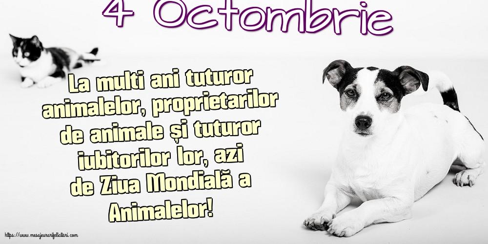 Felicitari de Ziua Animalelor - 4 Octombrie