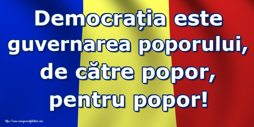 Ziua Internațională a Democrației Democrația este guvernarea poporului, de către popor, pentru popor!