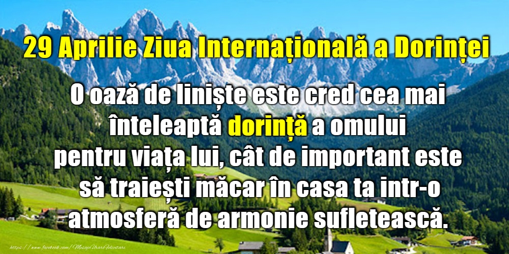 Felicitari de Ziua Dorinţei - 29 Aprilie - Ziua Internaţională a Dorinţei