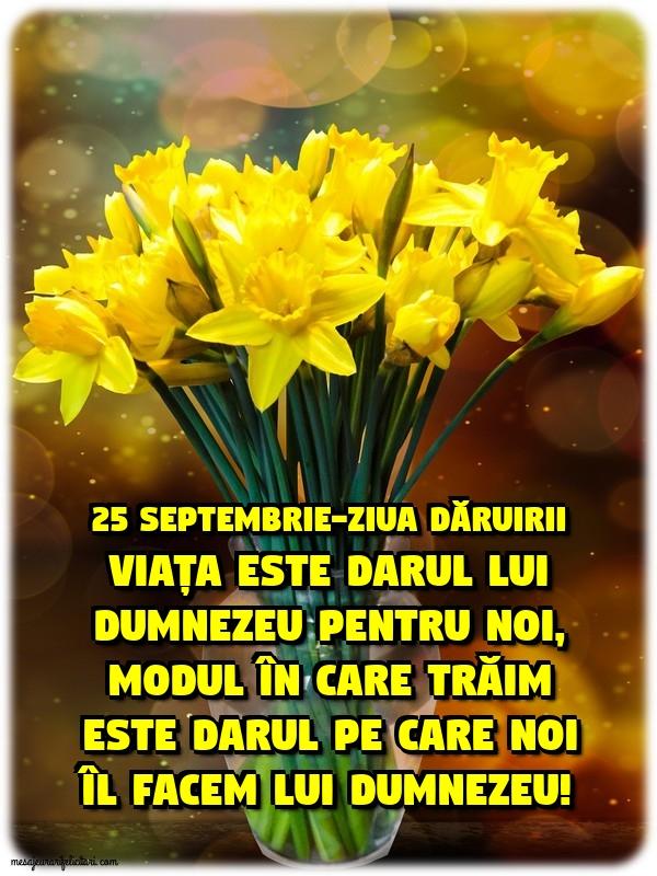 25 septembrie-Ziua dăruirii