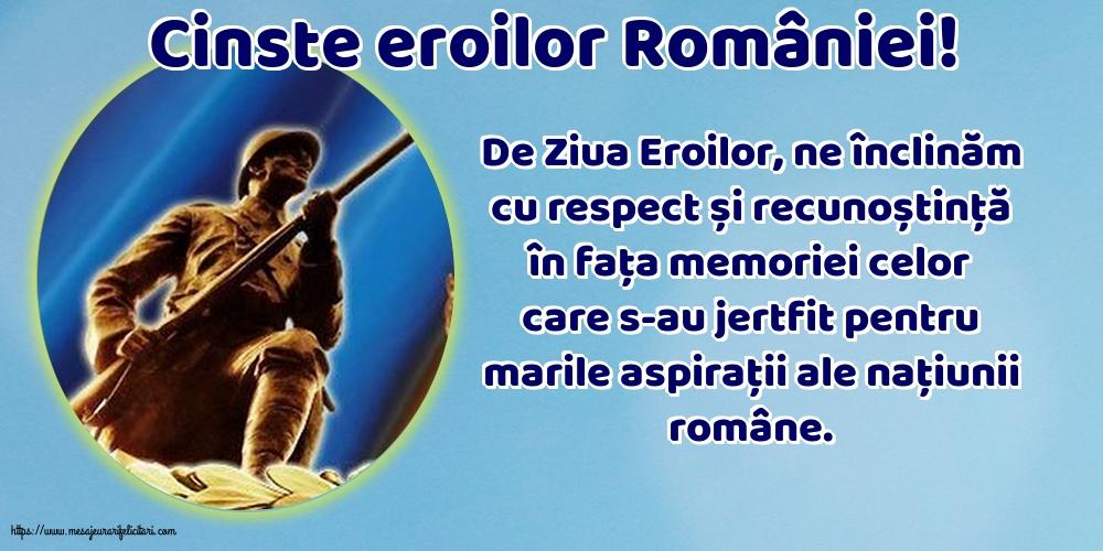 Imagini de Ziua Eroilor - Cinste eroilor României!