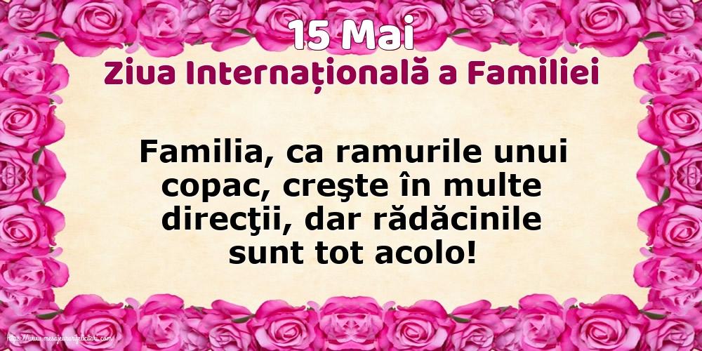 Cele mai apreciate felicitari de Ziua Familiei - 15 Mai - Ziua Internațională a Familiei - Familia ca ramurile unui copac