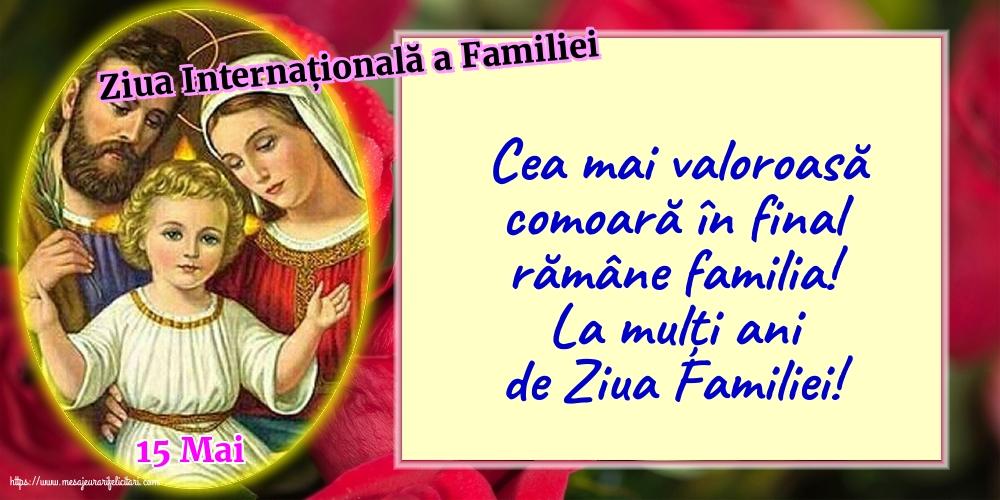 Ziua Familiei 15 Mai - Ziua Internațională a Familiei - La mulți ani de Ziua Familiei!