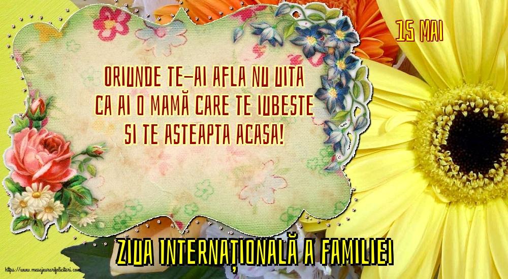 Felicitari de Ziua Familiei cu mesaje - 15 Mai - Ziua Internațională a Familiei - Oriunde te-ai afla nu uita